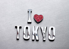 I love tokyo. Is for designer use metal word i love tokyo Royalty Free Stock Photos