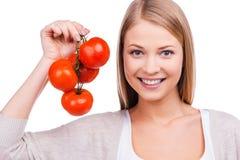 I love tomatoes! Stock Photography