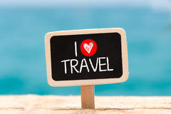 I love travel Text Stock Image