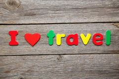 I love travel Royalty Free Stock Image