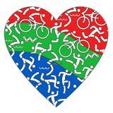 I love Triathlon. Royalty Free Stock Images