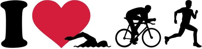 I love triathlon silhouettes. Vector Royalty Free Stock Photos