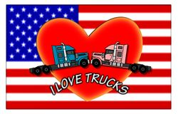 I love trucks Royalty Free Stock Images