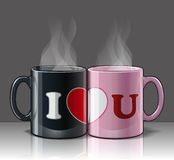I Love U Mags Black & Pink Stock Photo
