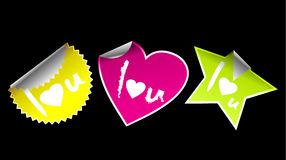 I love u stickers Royalty Free Stock Photo