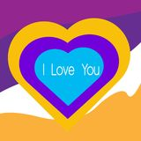 I love u  heart vector illustration