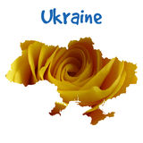I love Ukraine. Stylish vector illustration for t Royalty Free Stock Photos