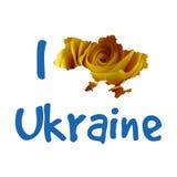 I love Ukraine. Stylish vector illustration for t Royalty Free Stock Image