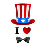 I love Uncle Sam card. Stock Photography