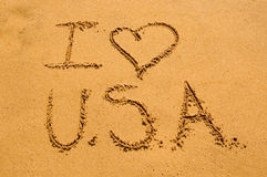 I love USA Royalty Free Stock Photography