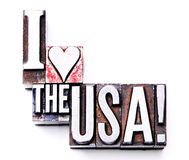 I Love the USA! Royalty Free Stock Images