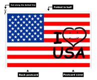 I Love USA card Stock Photo