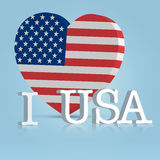 I love usa festive banner Royalty Free Stock Photo