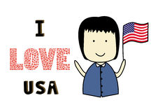 I love USA2 Stock Photo
