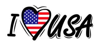 I Love USA vector Stock Photos