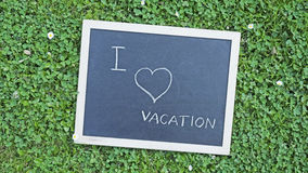 I love vacation Royalty Free Stock Images