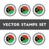 I Love Vanuatu vector stamps set. Royalty Free Stock Photography