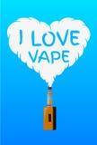 I love vape, logo or symbol design concept. Vector Illustrator Royalty Free Stock Photography