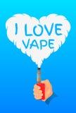 I love vape, logo or symbol design concept. Vector Illustrator Stock Image