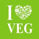I Love Veg Royalty Free Stock Photo