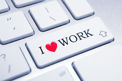I Love Work!. Fun concept for staff motivation Royalty Free Stock Image