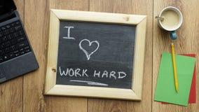 I love work hard Stock Image