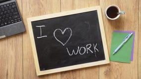 I love work Stock Image