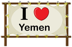 I love Yemen Royalty Free Stock Image
