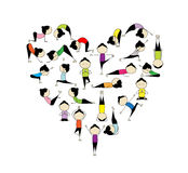 I Love Yoga! Heart Shape For Your Design Royalty Free Stock Photography