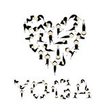 I love yoga! Heart shape for your design Stock Images
