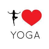 I love yoga illustration Stock Image