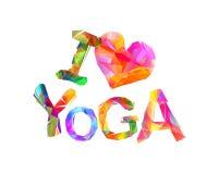 I love yoga. Vector inscription Stock Photos