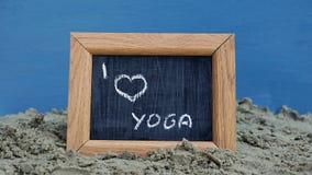 I love yoga Stock Photo