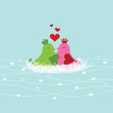 I love You. Among each other, wrapped in the heart of love birds nest Vector Illustration