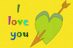 I love you. Two hearts, avatar Royalty Free Stock Images
