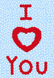 I love you. Blow balls -  illustration Stock Image