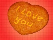 I Love You. Message I love You on a heart Stock Photography