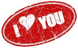 I love you. Grunge stamp stock illustration