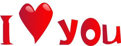 I love you. Red banner Vector Illustration