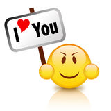 I love you. Emoticon on white background vector illustration
