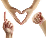 I love you!. I love you message with hand gestures Stock Photo