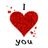 I love you. Lettering stylish text I love you. EPS10 Stock Photos