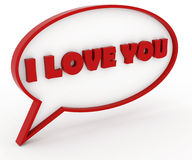 I love you. Text in a chat box Royalty Free Stock Image