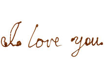 I love You. On white background Royalty Free Stock Images
