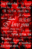 I love you. In different languages - valentine card royalty free illustration
