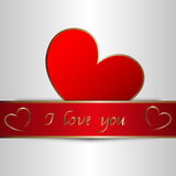 I love you. Beautiful red I love you card Royalty Free Stock Images