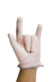 I love You. Hand in golf glove show symbol of love Stock Photos