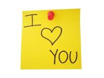I love you. Message Stock Photos