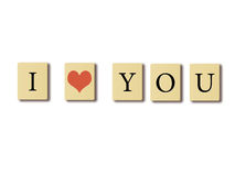 I love you. Royalty Free Stock Images