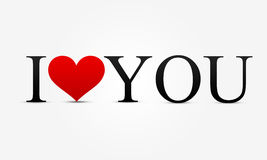 I love you. I heart you - valentine Stock Images